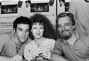 Mandy Patinkin, Bernadette Peters and composer Stephen Sondheim