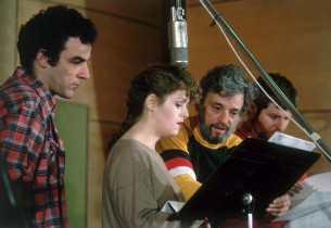 Mandy Patinkin, Bernadette Peters and Stephen Sondheim (Photo: Peter Cunningham)