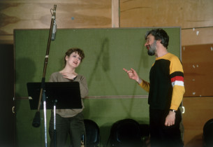 Bernadette Peters and Stephen Sondheim (Photo: Peter Cunnin