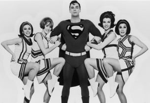 Bob Holiday as Superman with Supergirls