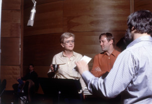 Angela Lansbury, Len Cariou and Stephen Sondheim