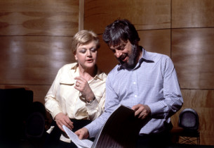 Angela Lansbury and Stephen Sondheim