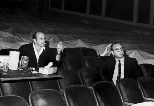 Bob Fosse and Neil Simon, author of the book (Photo: Friedman-Abeles)