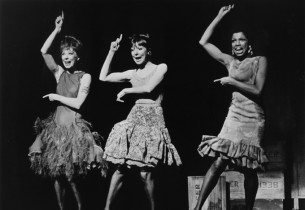 Gwen Verdon (Charity), Helen Gallagher (Nickie) and Thelma Oliver (Helene) sing