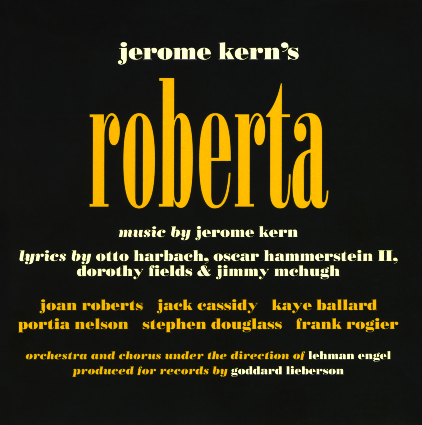 Roberta – Studio Cast Album 1952