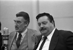 Walter Pidgeon and Jackie Gleason