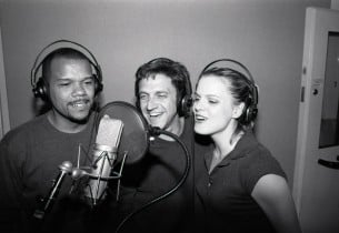 Jerry Dixon, Raul Esparza and Amy Spanger