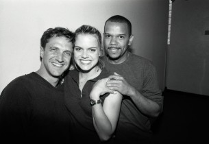 Raul Esparza, Amy Spanger and Jerry Dixon