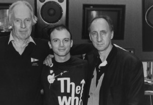 In the recording studio, album producer George Martin, Michael Cerveris (Tommy),