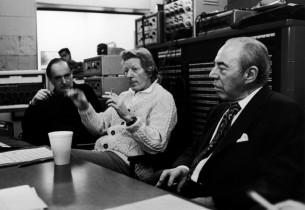 Recording engineer Fred Plaut, Danny Kaye and composer Richard Rodgers