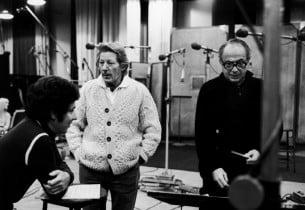 Producer Thomas Z. Shepard, Danny Kaye and Jay Blackton