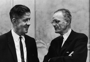 Rudy Vallee and record producer George Marek
