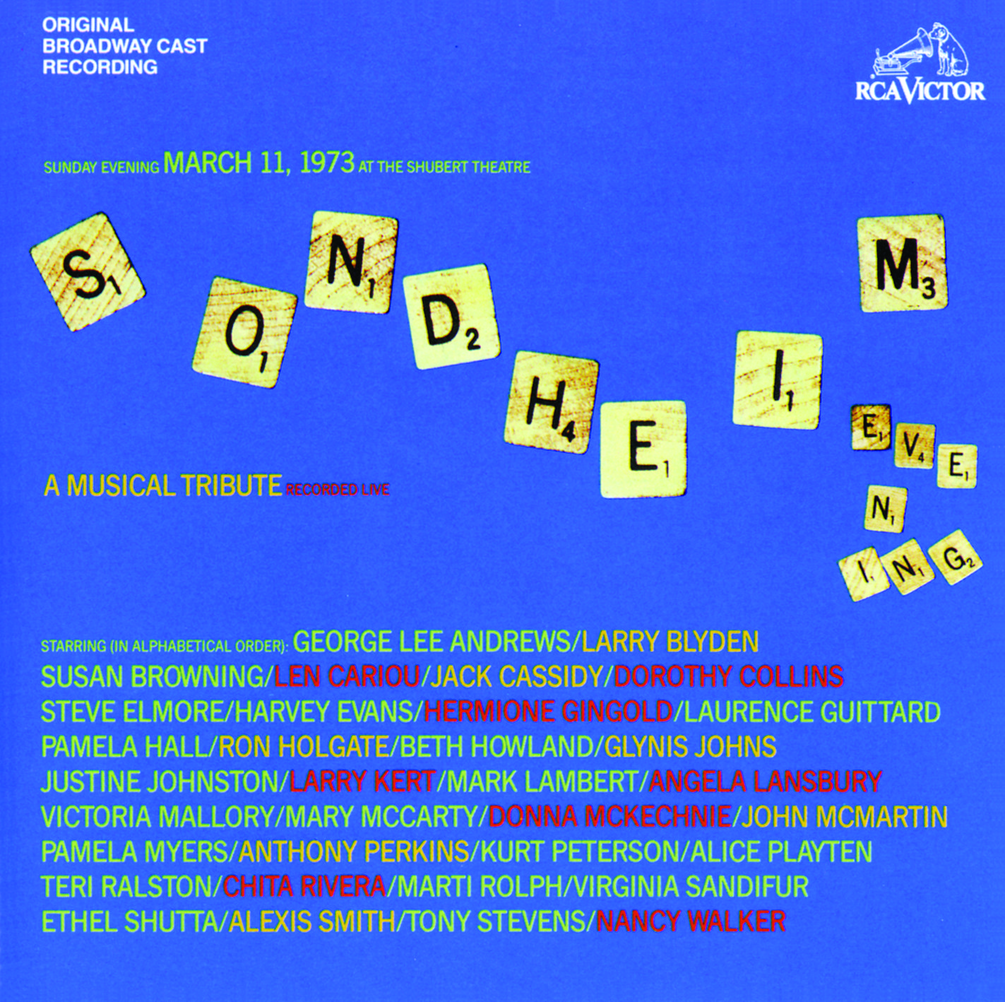 Sondheim: A Musical Tribute – March 11, 1973