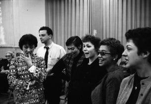 Chita Rivera, Stephen Sondheim, Carmen Gutierrez, Lynn Ross, Elizabeth Taylor, L