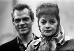 Keith Andes and Lucille Ball