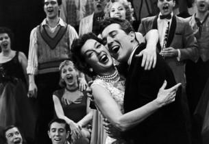 Rosalind Russell and Sydney Chaplin (Photo: L. Lautenberger/CBS)