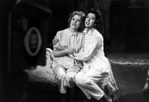 Jacquelyn McKeever and Rosalind Russell singing