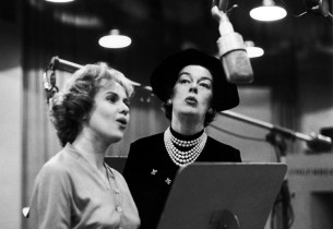 Jacquelyn McKeever and Rosalind Russell recording (Photo: L. Lautenberger/CBS)
