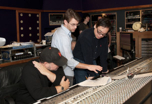 Album producers Frank Wildhorn, Jason Howland and David Lai