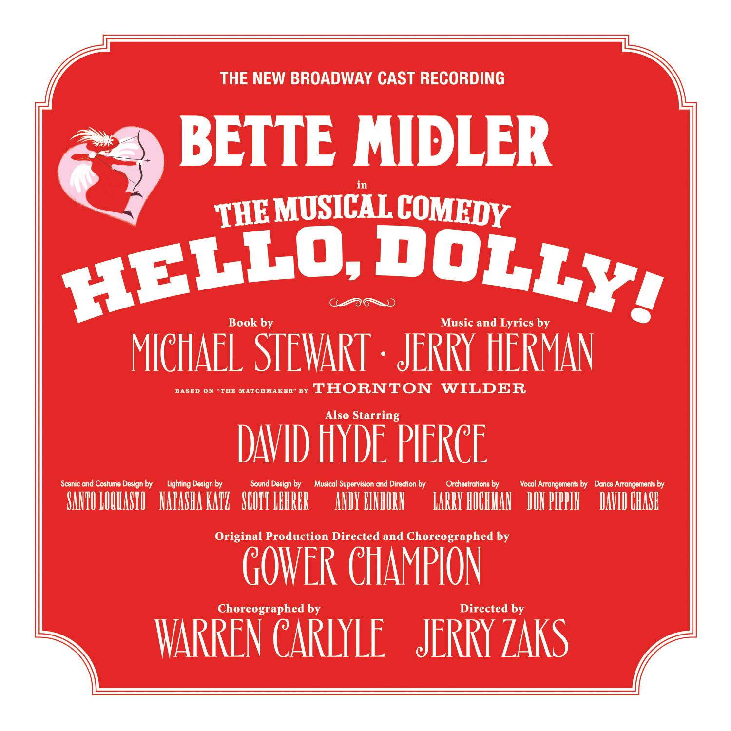 HELLO, DOLLY! NEW BROADWAY CAST RECORDING (2017)