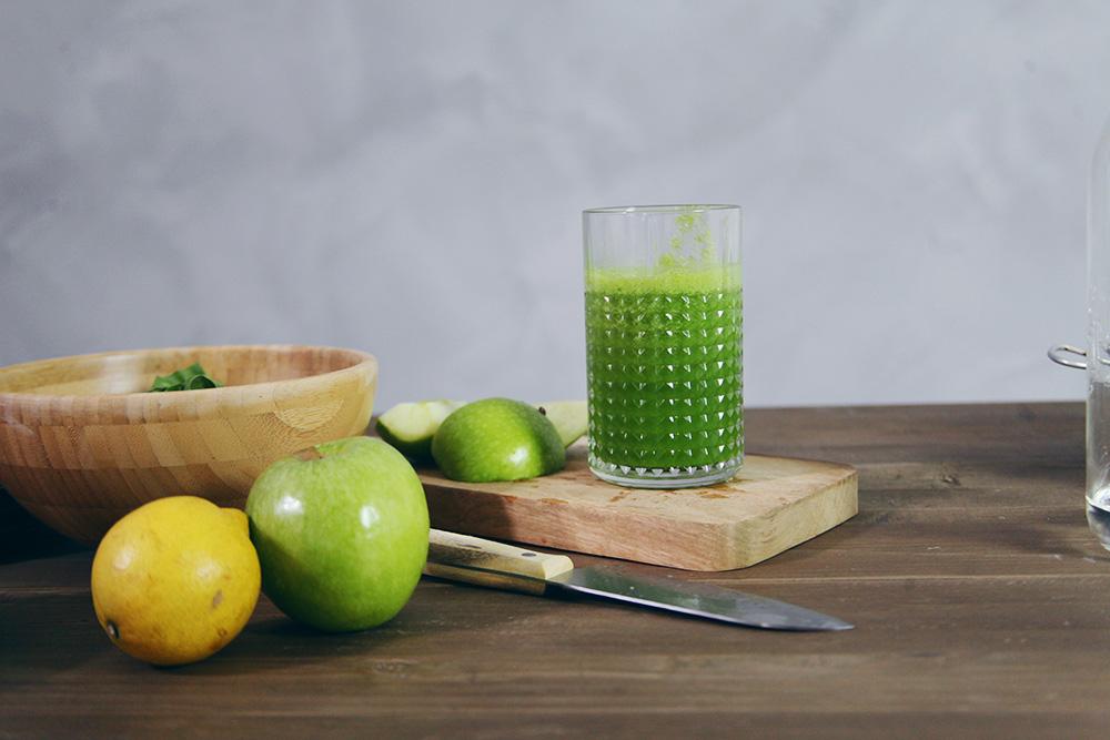 La receta de mi batido verde