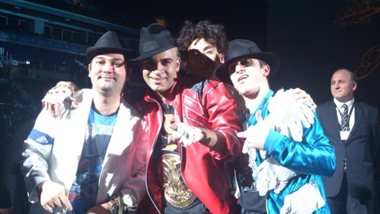 Me and the dancers of Immortal Show.