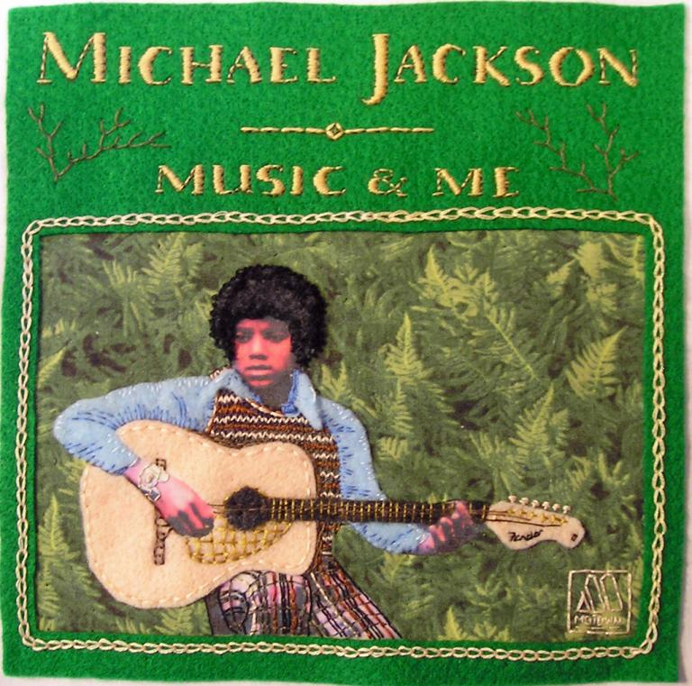 music and me album cover in needlework michael jackson