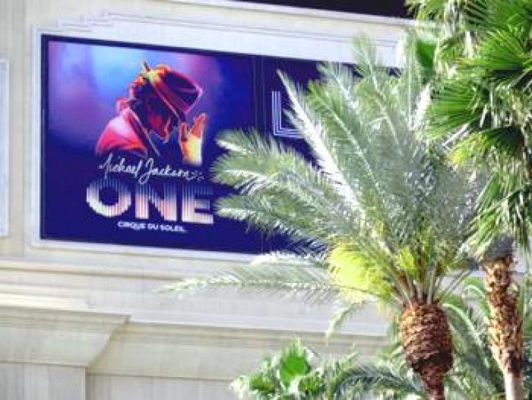 Michael Jackson ONE Display at Mandalay Bay
