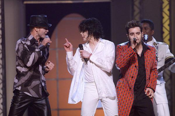 Michael Jackson & Justin Timberlake In 2001