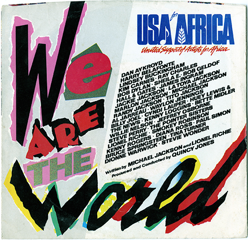 We Are The World U.S. single cover