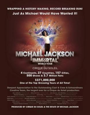 Michael Jackson The Immortal World Tour History Making, Record Breaking Run!