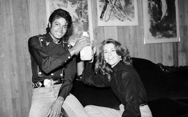 Friendly Friday: Michael Jackson and Jane Fonda