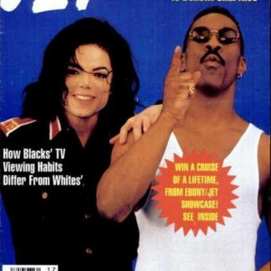 MJ and Eddie Murphy on Jet Magazine