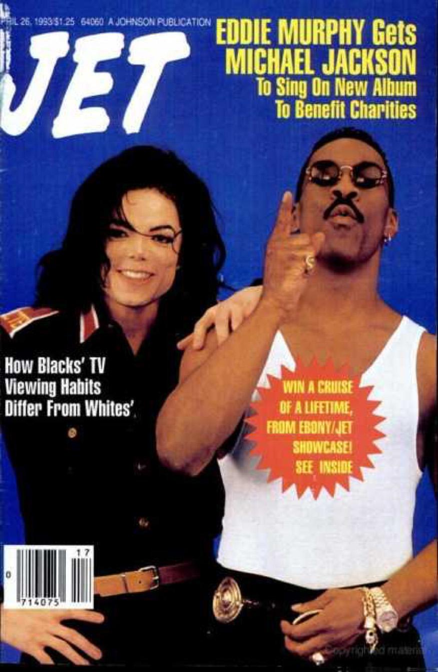 MJ and Eddie Murphy on Jet Magazine