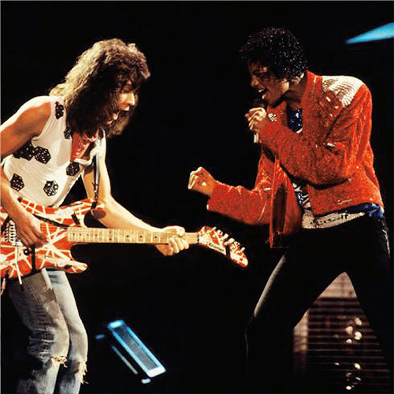 Michael Jackson and Eddie Van Halen