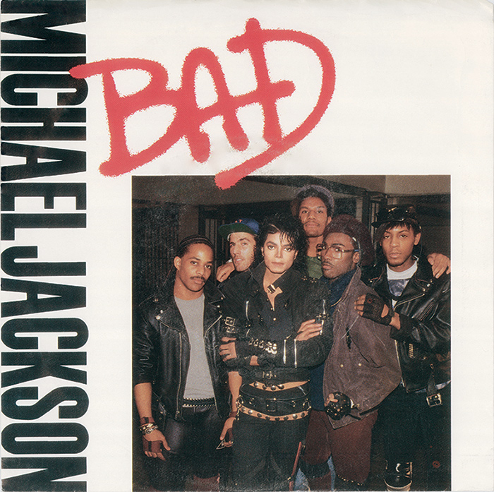 Michael Jackson Bad single cover artwork
