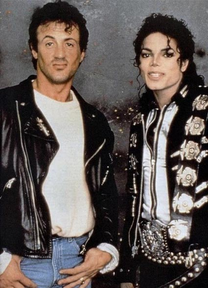 MJ and Sylvester Stallone