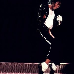 Michael Jackson dancing on stage
