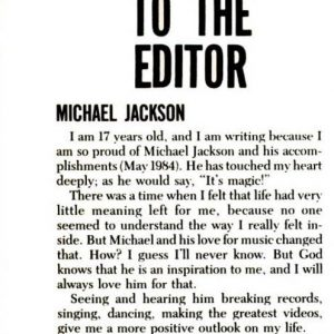 Ebony Magazine Letter to the Editor