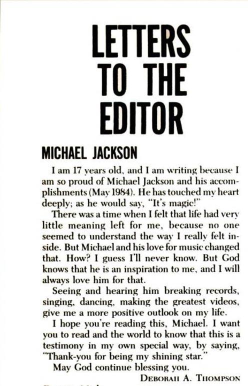 Ebony Magazine Letter to the Editor
