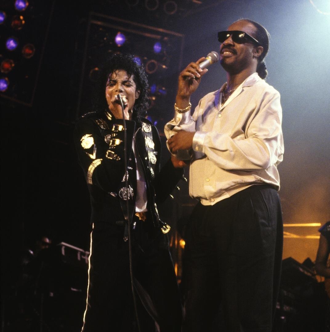 Michael Jackson and Stevie Wonder Bad Tour