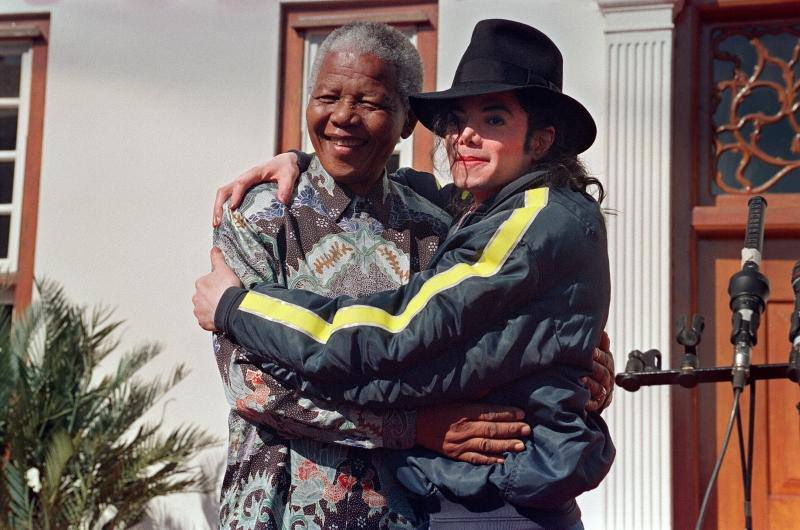Friendly Friday: Michael Jackson and Nelson Mandela