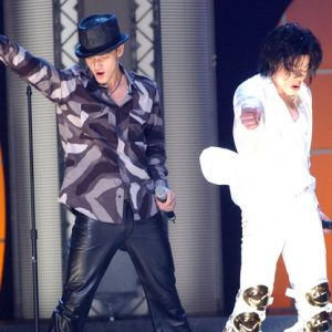 Michael Jackson and Justin Timberlake