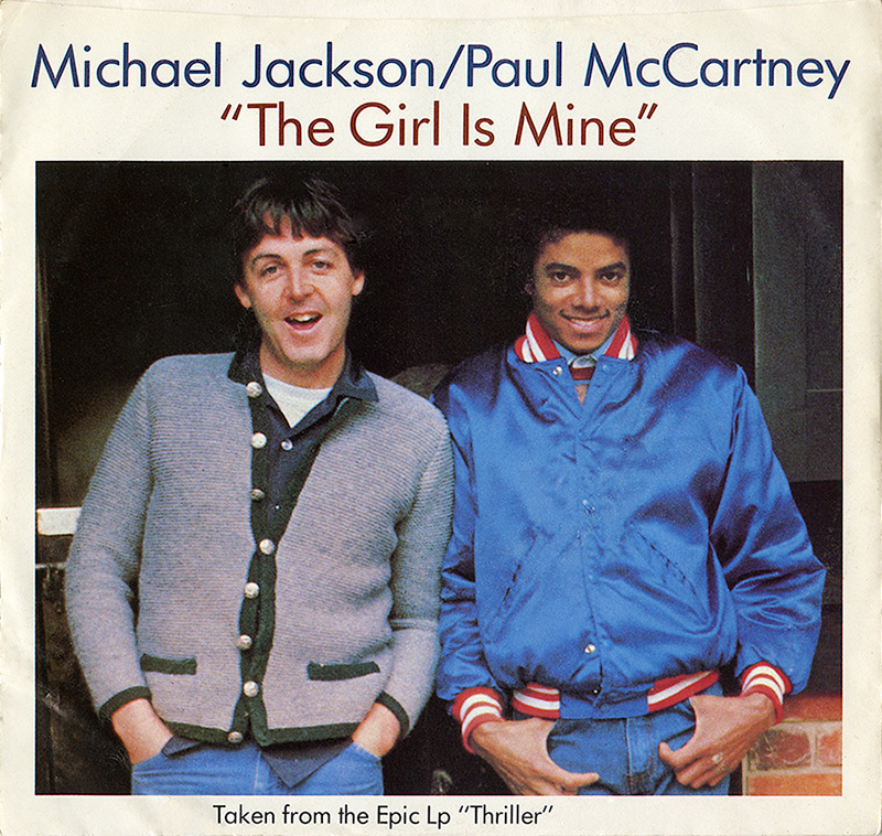 Michael Jackson & Paul McCartney - The Girl Is Mine single
