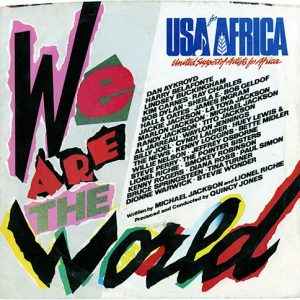 USA For Africa 'We Are The World' Single