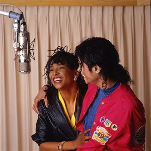 Michael Jackson and Siedah Garrett I Just Can't Stop Loving You recording session