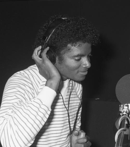 Michael Jackson in studio