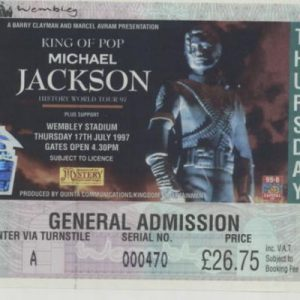 Michael's Last of Three Sold-Out Wembley Stadium Performances