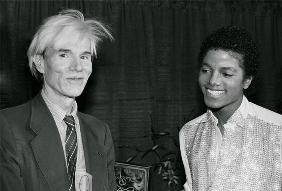 MJ With Andy Warhol