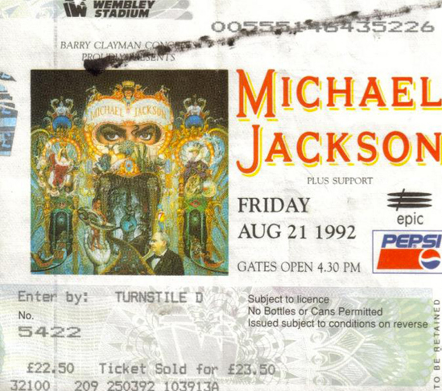 On This Day, MJ's Dangerous Tour Arrived At Wembley Stadium